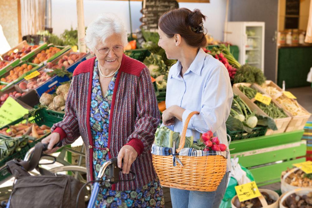 Pflegedienst Hilfe Einkaufen